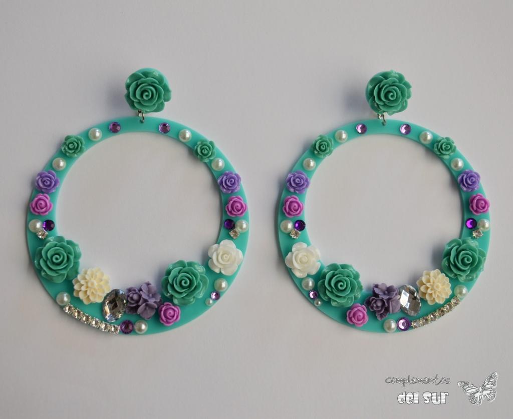 pendientes-de-flamenca-verdes-lilas-morados-turquesa-esmeraldas-ag287-3
