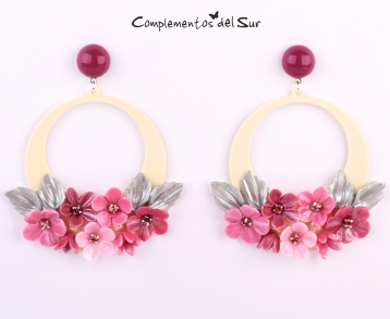 pendientes-flamenca-rosa-grosella
